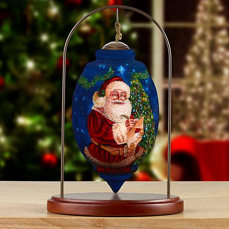 Precious Moments Ne'Qwa Art Santa Ornament With Stand