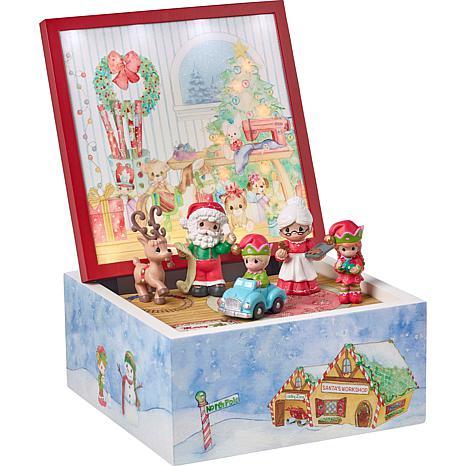 Precious Moments Santa's Workshop Heirloom LED Light Up Music Box