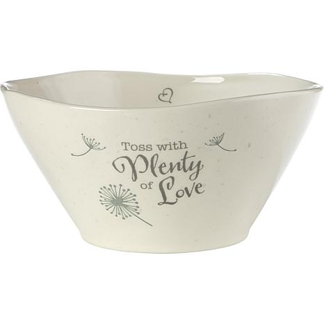 Precious Moments Toss With Plenty Of Love Ceramic Serving Bowl