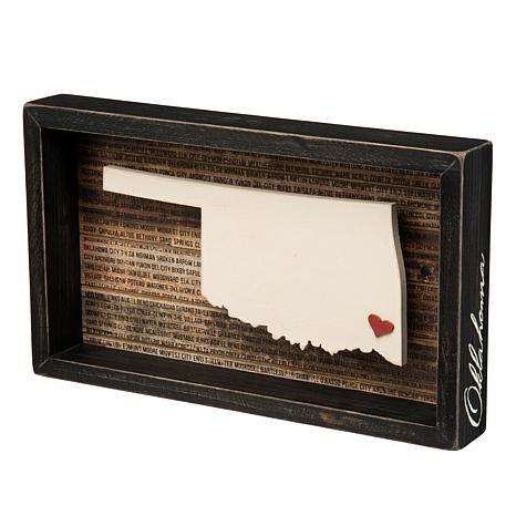 Primitives By Kathy Oklahoma Box Sign 8507717 Hsn
