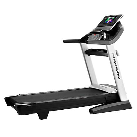 proform pro 5000 touchscreen ifit treadmill with space saver design 9067212 hsn. Black Bedroom Furniture Sets. Home Design Ideas