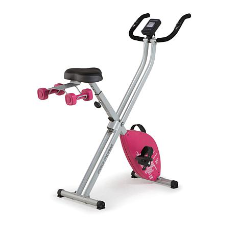 exclusive! ProForm X-Bike Elite Folding Upright with iFit & 2lb  Weight Set