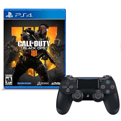 """PS4 Wireless DualShock 4 Controller w/""""Call of Duty: Black Ops 4"""" Game"""