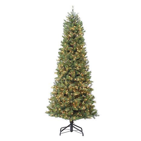 Puleo International 7.5' Pre-Lit Slim Miracle Shape Tree w/800 Lights