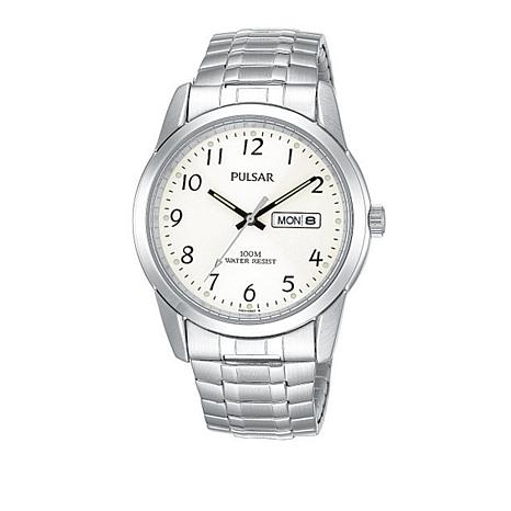 Pulsar Men's Stainless Steel Expanding Watch