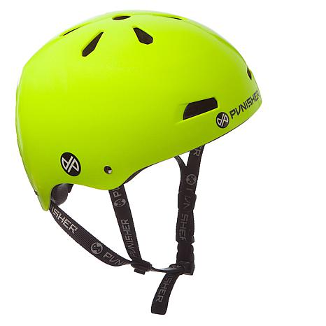 Punisher Premium Neon Yellow Youth Skateboard Helmet