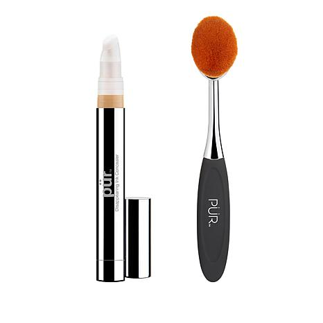 PUR Porcelain Disappearing Ink 4-in-1 Concealer with Brush