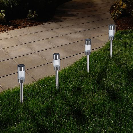 Pure Garden Set of 6 Solar Yard Pathway Lights