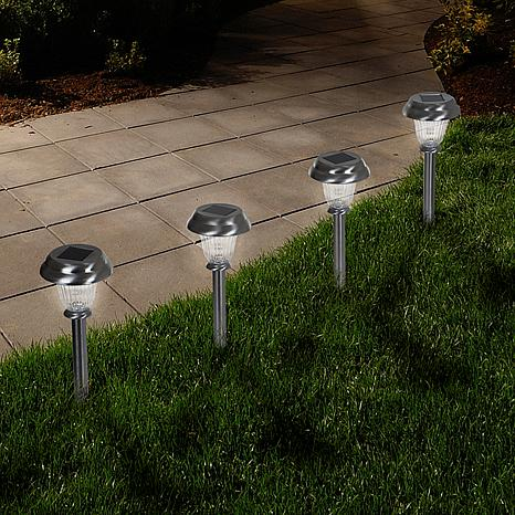 Pure Garden Solar Glass Lights Set of 6 - .45 Lumen