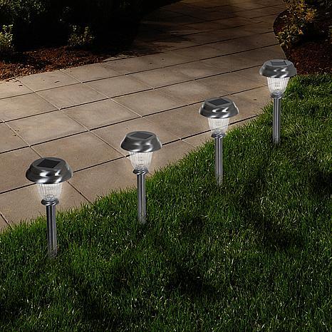 Pure Garden Solar-Powered Glass Lights Set of 6 - .45 Lumen