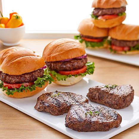 Pureland Meat Co. Black Angus 8 5 oz. Steaks and 10 5 oz. Burgers