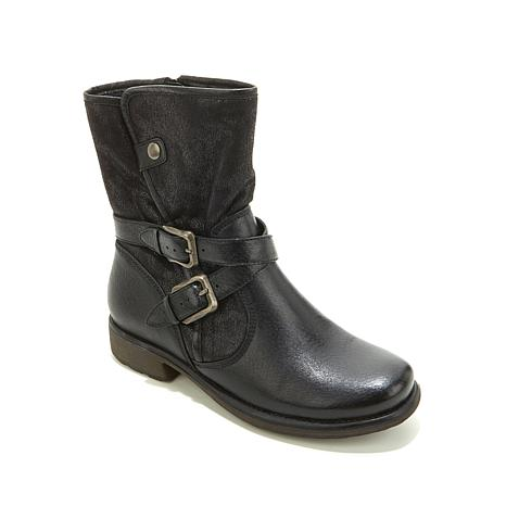 "PureSole™ ""Sammy"" Leather Faux Fur Lined Moto Boot ... Rosetta S Kitchen"