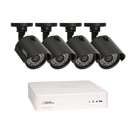 Q-See Security 4-Channel 1TB HD DVR with 4 HD Cameras