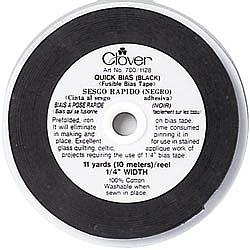 "Quick Bias Fusible Bias Tape - 1/4""W Black"