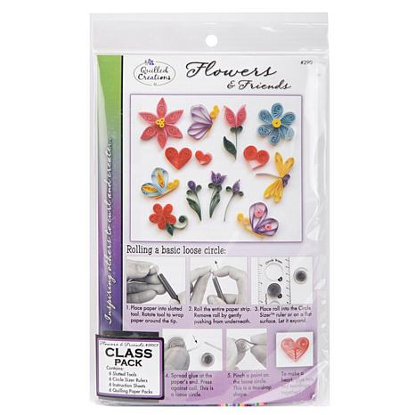 Quilling Kit Class Pack - Flowers and Friends