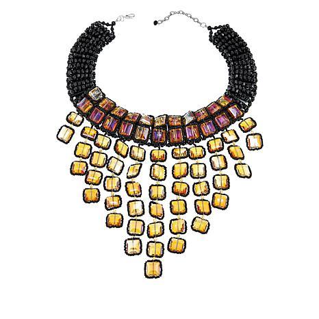 "Rara Avis by Iris Apfel 17"" Beaded Outline Tassel Necklace"