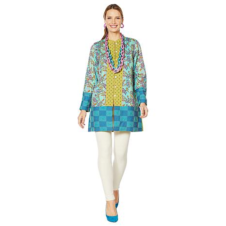 Rara Avis by Iris Apfel Mixed Print Jacket