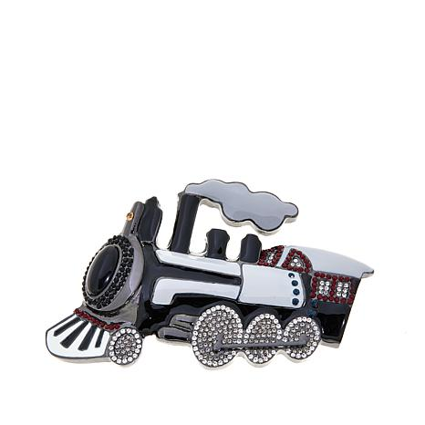 Rara Avis by Iris Apfel Train-Design Brooch