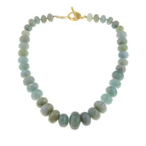"Rarities Aquamarine Rondelle 20"" Necklace"