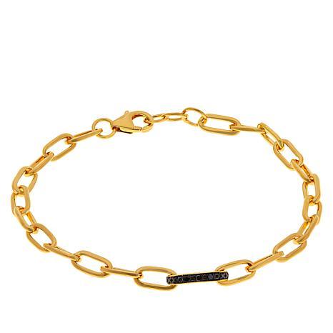 Rarities Diamond-Accented Oval-Link Bracelet
