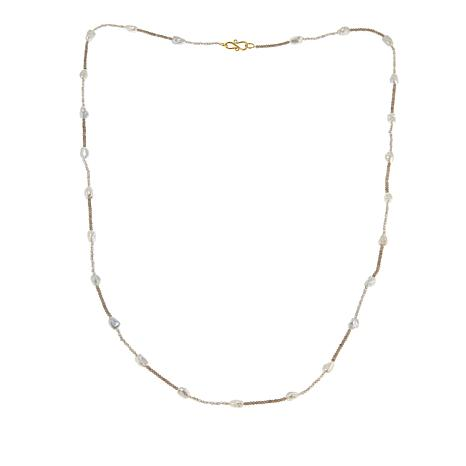 """Rarities Gemstone Bead and Cultured Freshwater Pearl 36"""" Necklace"""