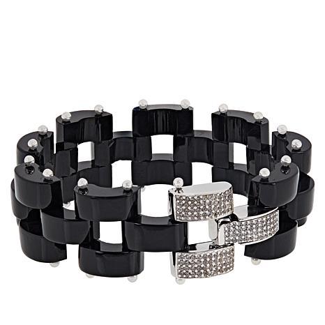 Rarities Gemstone Link Bracelet with White Zircon Clasp