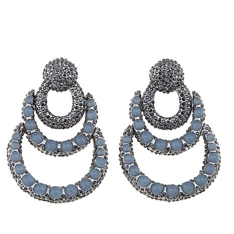 Real Collectibles by Adrienne® 3-Layer Earrings