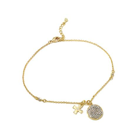 Real Collectibles by Adrienne® Cross Drop Anklet