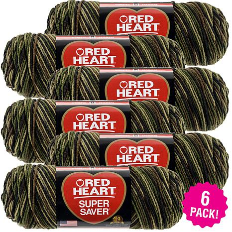Red Heart Super Saver Yarn 6-pack - Camouflage