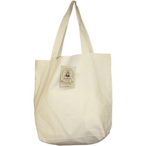 Reusable Canvas Grocery Bag - Natural