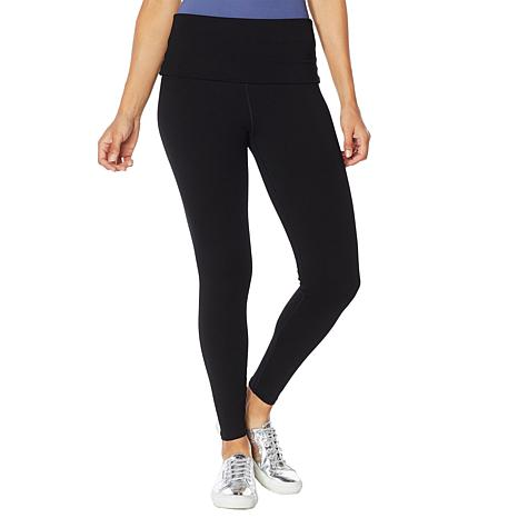 Rhonda Shear Cotton-Blend Foldover Waist Legging