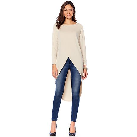 Rhonda Shear Crossover Front High-Low Tunic