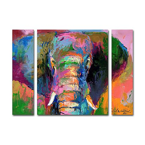Richard Wallich 'Elephant 2' Multi-Panel Art Collection