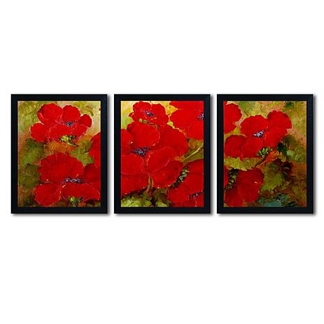 Rio 'Poppies' Multi-Panel Art Collection