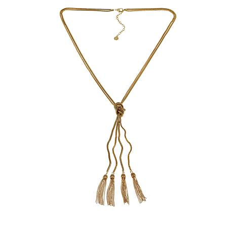 """R.J. Graziano 32-1/2"""" Multi-Link Knotted Tassel Necklace"""