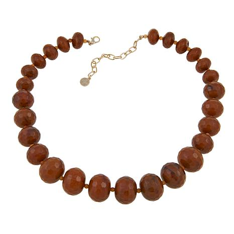 """R.J. Graziano Faceted Bead Graduated 20-3/4"""" Necklace"""
