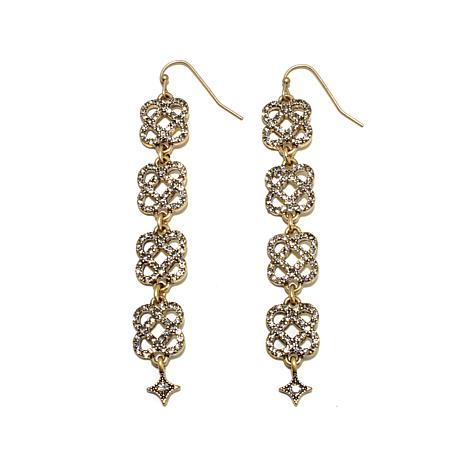 "R.J. Graziano ""Live for Lux"" Knot Drop Pavé Earrings"