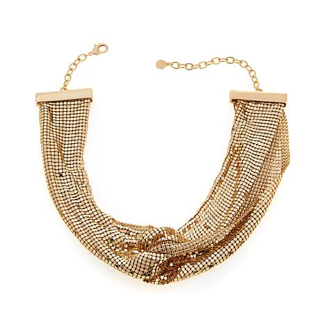 "R.J. Graziano ""Shine in Chic"" Mesh Knot 18"" Necklace"