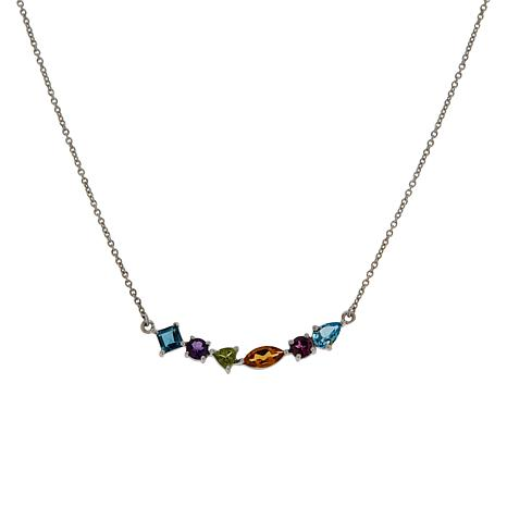 "Robert Manse ""Gem RoManse"" Multi-Color Multi-Gemstone Necklace"