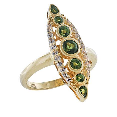 "Robert Manse ""Gem RoManse"" Multi-Gemstone Marquise Ring"