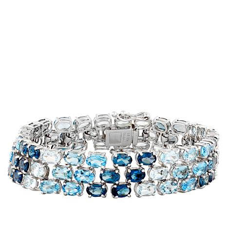 "Robert Manse ""Gem RoManse"" Shades of Blue Topaz Bracelet"