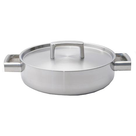 "RON 10"" 18/10 5-Ply Stainless Steel Covered Deep Skillet"