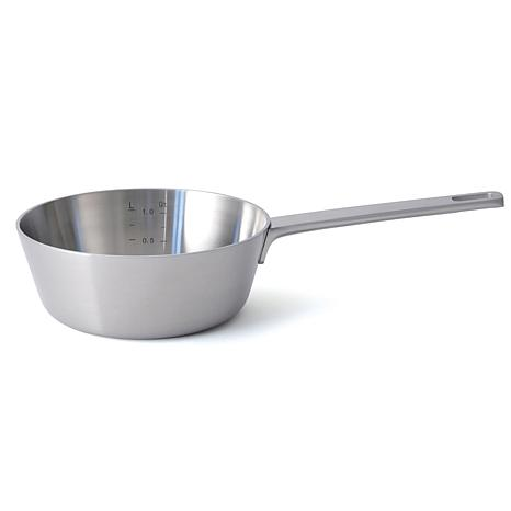 """RON 7"""" 18/10 5-Ply Stainless Steel Conical Sauce Pan"""