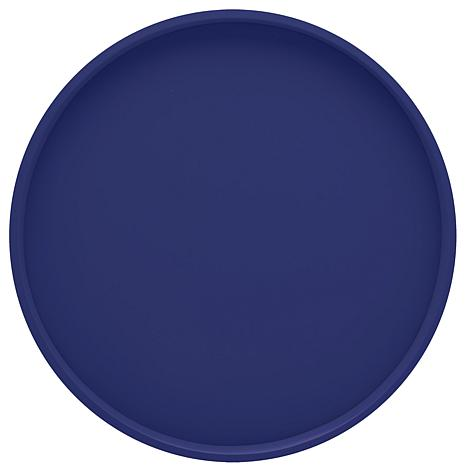 Round Vinyl-Covered Serving Tray - 14""