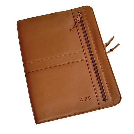 ROYCE Personalized Luxury Zip-Around Writing Portfolio