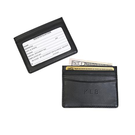 Royce Personalized Slim Credit Card ID Wallet
