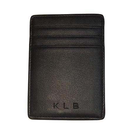 Royce Personalized Slim Magnetic Money Clip Wallet