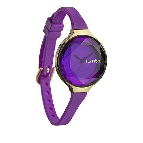 RumbaTime Orchard Mini Amethyst-Colored Strap Watch