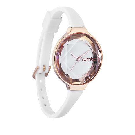 RumbaTime Orchard Mini Rosetone Crystal White Watch