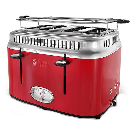Russell Hobbs Retro Style 4 Slice Toaster Red